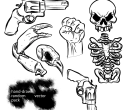 Hand Drawn Random Free Vector Pack
