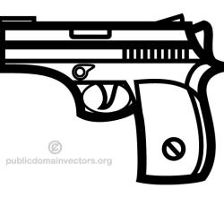 Handgun Clip Art