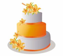 Vector Pastel Cake Image