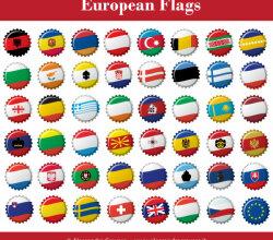 Vector European Flags