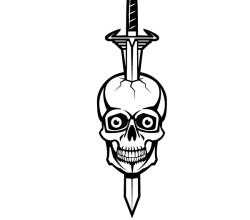 Stabbing Skulls with Knife Vector