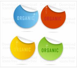 Colorful Curl Labels Vectors Free