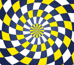 Colorful Spiral Optical Illusion Vector Free