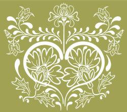 Vintage Floral Design Vector Graphic