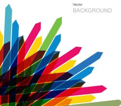 Colored Arrows Vector Background Design