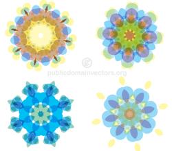 Vector Colorful Floral Shapes Illustrator Pack