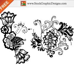 Beautiful Floral Free Vector Art Designs