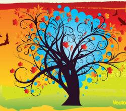 Autumn Background Vector Art