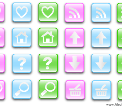 Vector Glass Effect Buttons
