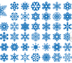 Snowflakes Vector Illustrator and Photoshop Shapes