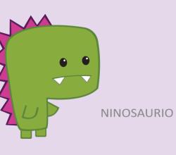 Vector Green Dinosaur Cartoon Character