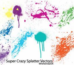 Super Crazy Splatter Vector