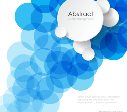 Modern Abstract Blue Circle Background Illustrator Image
