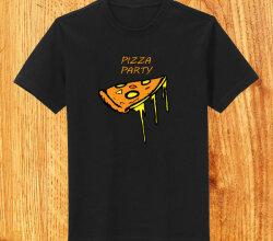 Vector Funky Pizza T-shirt Design