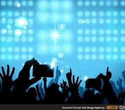 Vector Concert Crowd Background Image