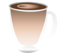 Vector Transparent Coffee Cup