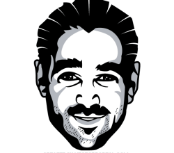 Colin Farrell Vector Image