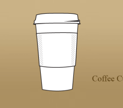 Vector Paper Coffee Cup AI