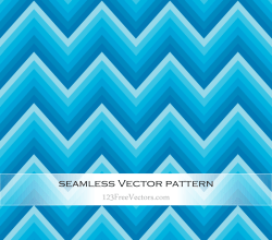 Blue Chevron Seamless Pattern Vector