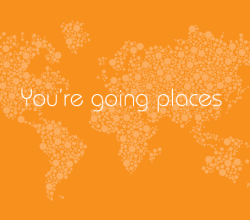 Vector Dots Map: You're Going Places Map