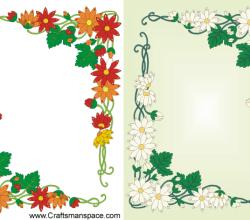 Floral Frame Design in Art Nouveau Style