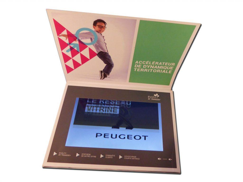 Plaquette vidéo A4 écran vidéo LCD 10 pouces !
