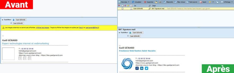 Une signature email professionnelle en 2 étapes