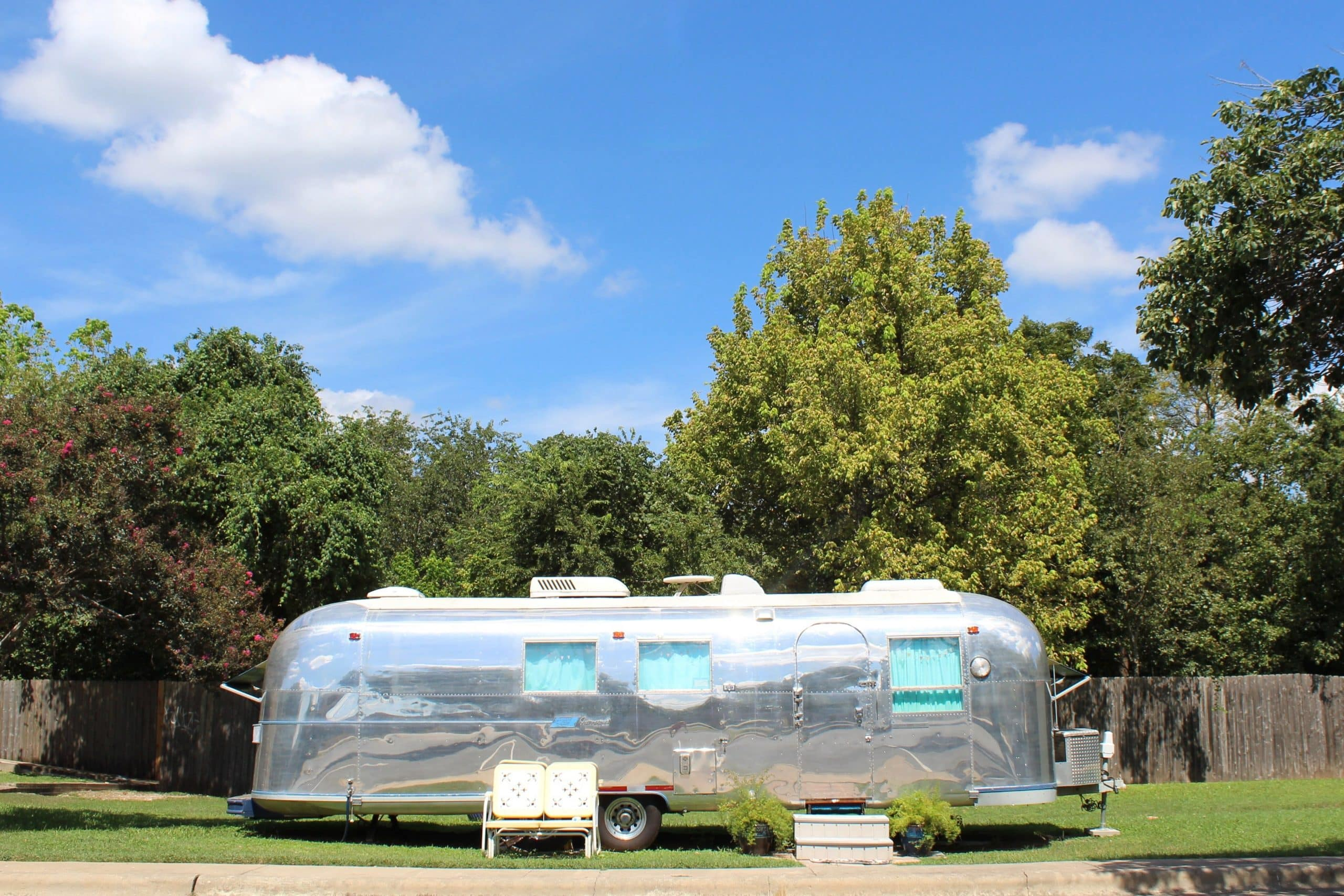 1966 Airstream renovation to become a mental health counseling office.