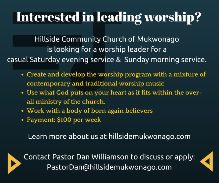 Help Wanted - Worship Leader