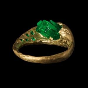 honoka raw emerald jewellery hand crafted gold ring