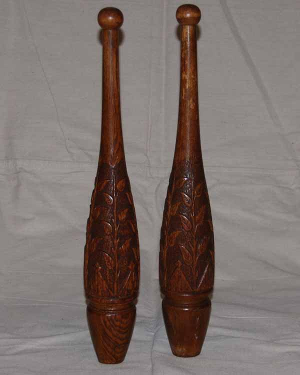 carved pair back