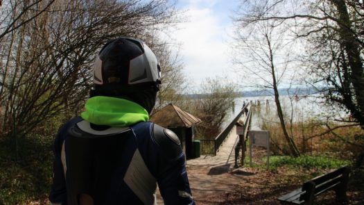 Blick auf den Ammersee am Dampfersteg