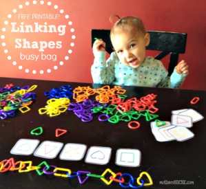 Linking Shapes Busy Bag Printable