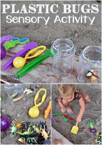 Plastic Bugs Sensory Activity