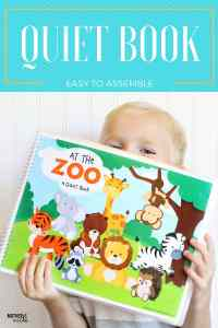 AT THE ZOO: An adorable, EASY to make quiet book!