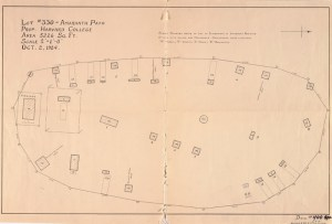 Lot plan for Harvard Hill, c. 1924