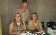 John Harrison with contributors Anneliese Merrigan (l) and Elsa Lichman (r)