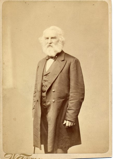 Henry Wadsworth Longfellow. Photo courtesy National Park Service, Longfellow House-Washington's Headquarters National Historic Site