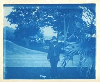 Joseph Collins, Cemetery Gardener, c. 1881, Cyanotype.
