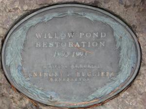 Willow Pond Restoration Plaque
