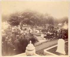 Funeral of Austin C. Wellington, September 23, 1888, Cabinet Card.