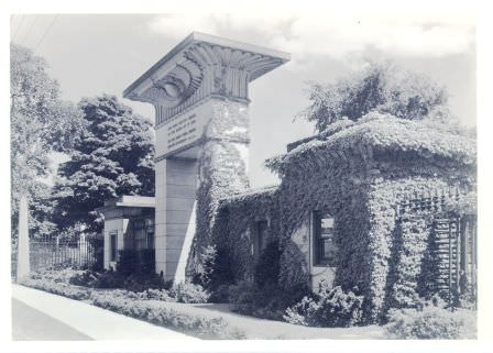 Egyptian Revival Gateway, NW perspective c. 1940