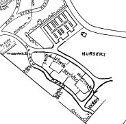Map of the Meadow (undated - after 1958) Note: North is down