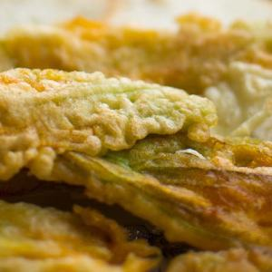 St. Supéry Fried Chevre Stuffed Squash Blossoms