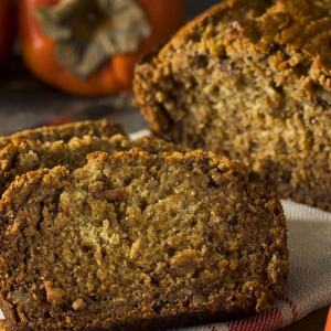 St. Supéry Persimmon Bread on cloth napkin