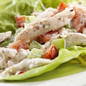 St. Supéry Curried Turkey Salad on lettuce leaf
