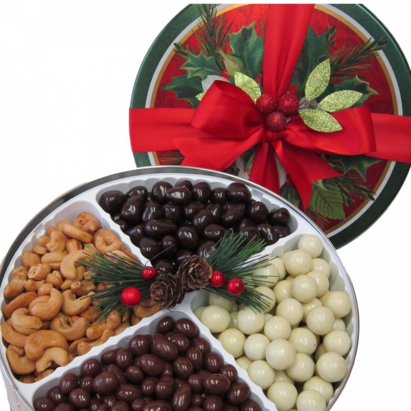 Holiday Nut & Chocolate Assortment Tin