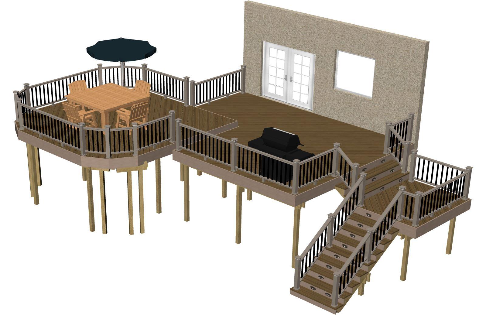 Free Deck Plans, TimberTech Azek composite Decking ... on Deck Inspiration  id=57892