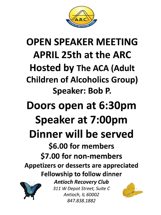 Open Speaker Meeting at ARC