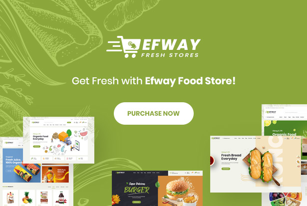 Efway Food Store WordPress Theme - Purchase